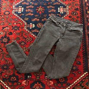 Cheap Monday Vintage Washed Black Jeans